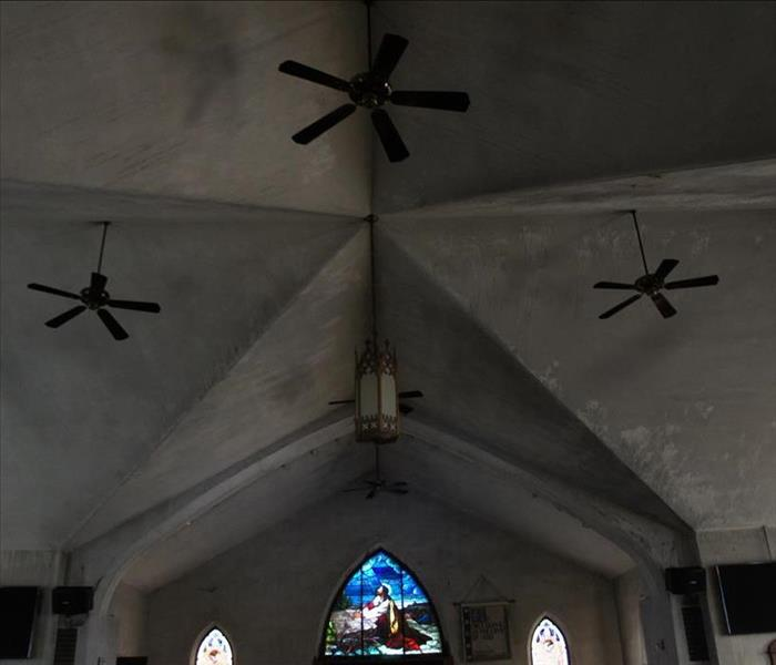 Before restoring church from fire damage