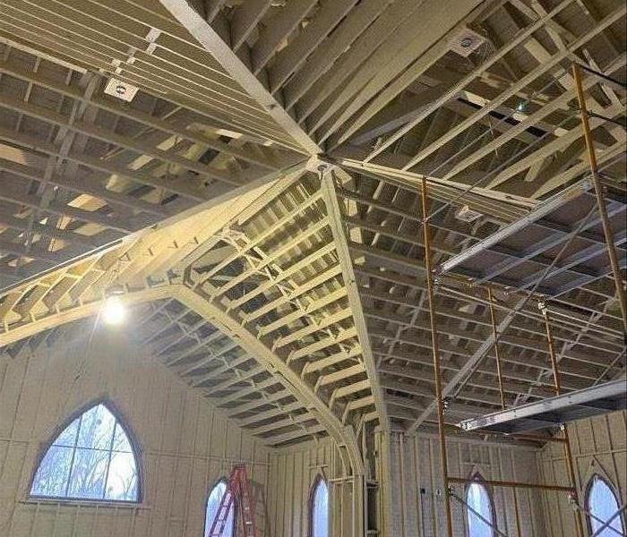 After restoring church from fire damage