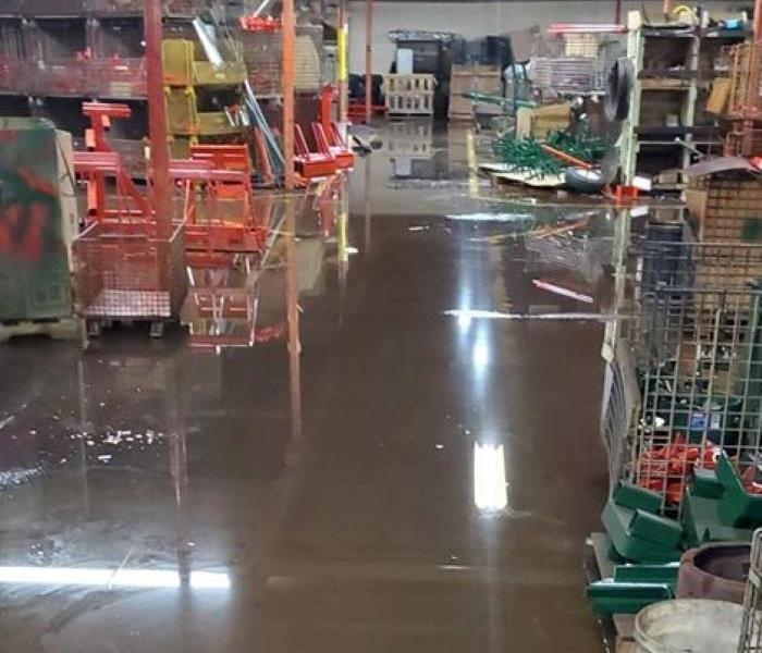Flooded commercial business