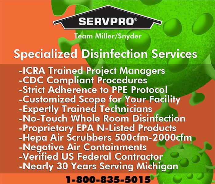 List of Specialized Disinfection Services