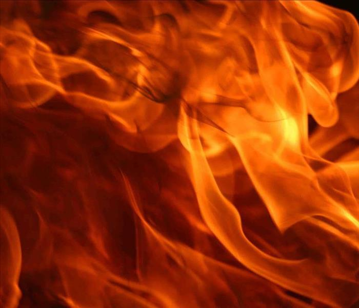 A close up on fire flames