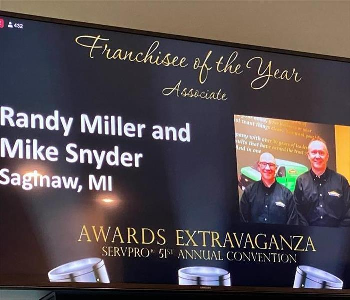 2019 Franchise of the year powerpoint slide with Randy & Mike's picture