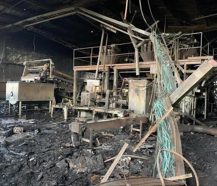 Facility fire damage